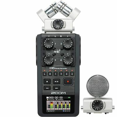 Zoom H6 Portable Handy Audio Recorder With Interchangeable Microphone System • 359.82£