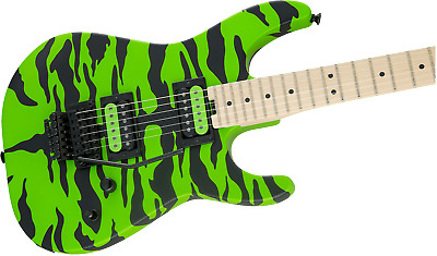 MINT Charvel Satchel Signature Pro-Mod DK Maple Board Slime Green Bengal • 846.67£