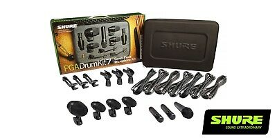 Shure PG Alta PGA Drum Kit 7 PGA52 PGA56 PGA57 PGA81 PGADRUMKIT7 Expedited Ship! • 383.64£
