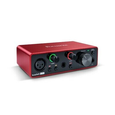 Focusrite Scarlett Solo 2x2 USB Audio Interface 3rd Gen For Singer/Songwriters • 92.55£