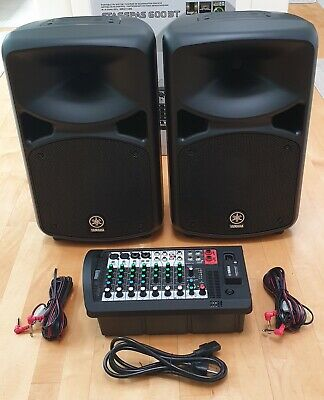 YAMAHA STAGEPAS 600BT - PA SYSTEM (With BlueTooth) PERFECT CONDITION • 604.23£