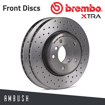 Fits Astra H Corsa D VXR SRI Brembo Xtra Drilled Brake Discs 308mm Fast Road • 158.23£