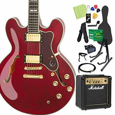Epiphone Sheraton Ii Pro Wr Electric Guitar Beginner 14 Point Set With Marshall • 1,019.45£