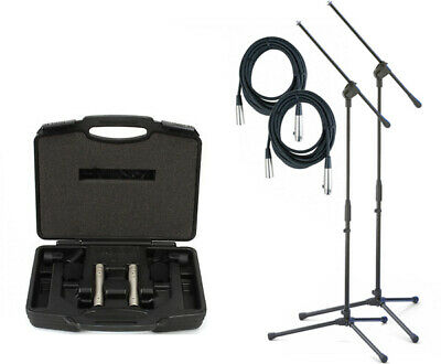Rode NT5 Matched Cardioid Condenser Microphone Pair  NT5MP + Stands/Cables/Case • 303.50£
