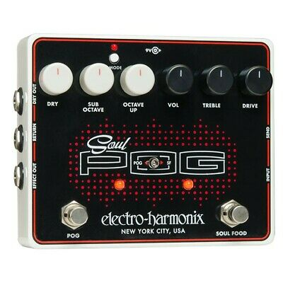 Electro-Harmonix Soul Pog Polyphonic Octave Generator and Overdrive Pedal