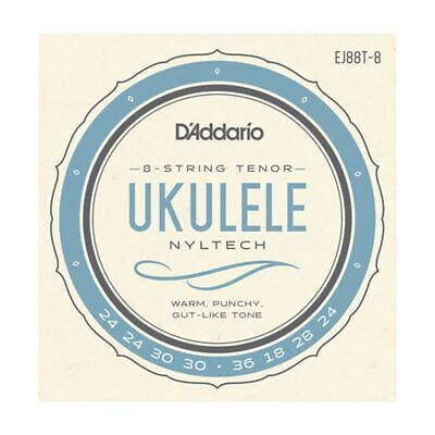 Ukulele Strings - D'addario Ej88t-8 - Nyltech - 8 String Tenor Set - Gcea High G • 10.79£