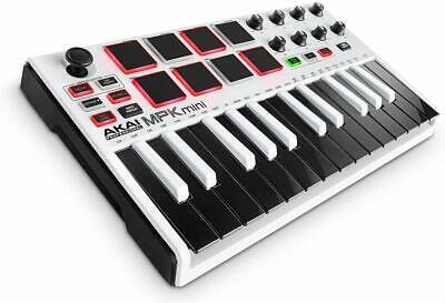 Akai Professional USB MIDI Keyboard 8 Pad MPK Mini MK2 WHITE Limited New JP F/S • 321.94£