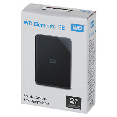 External HDD Drive 2.5  WD Elements SE 2TB Black (WDBUZG0010BBK-WESN) Sealed New • 99.54£