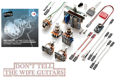EMG Solderless Conversion Wiring Kit 3 Pickups Switch 1 PPP Push/Pull +3 SETS 9s • 59.20£