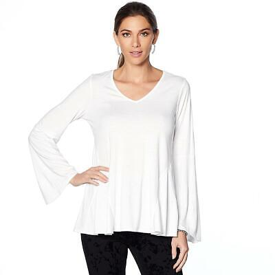 DG2 By Diane Gilman Bell Sleeve Top With Gusseted Sides • 14.32£