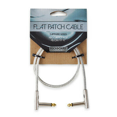 RockBoard RBO CAB PC F 45 SP SAPPHIRE Series Flat Patch Cable, 45 Cm / 1.5 Ft. • 9.26£