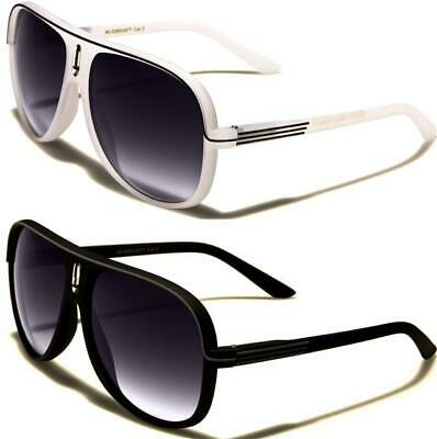 Mens Pilot Black Sunglasses Ladies Womens Striped Retro Vintage Designer Uv400 • 9.49£