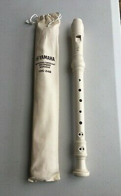 YAMAHA Soprano Descant Recorder Baroque YRS-24B With Bag & Fingering Chart NEW • 18.99£