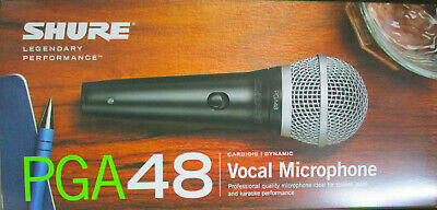 Shure PGA48-LC new vocal microphone FREE Mic Cable @ BIN