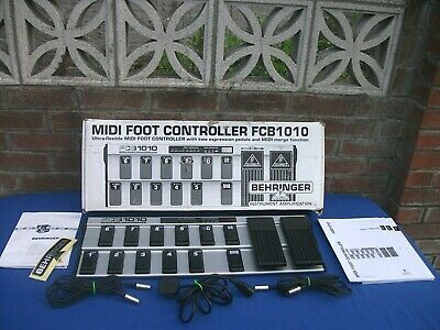 BEHRINGER FCB1010 MIDI Foot Controller,used Once,complete 100%works • 170£