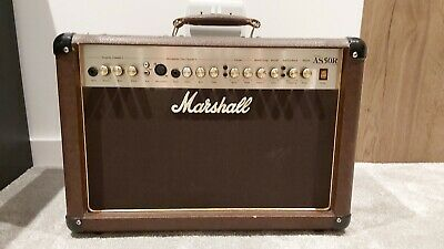 Marshall 50 Watt Acoustic Amplifier Combo AS 50 R - Brown Leather Look Finish • 150£