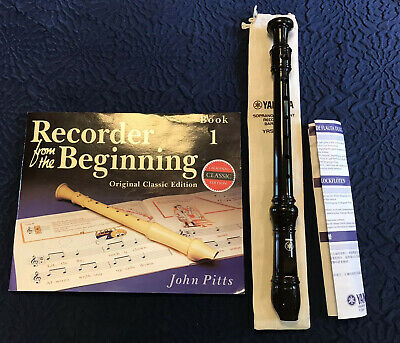Yamaha Soprano /Descant Recorder Baroque YRS-24B In Case, With Recorder Book 1 • 5.50£