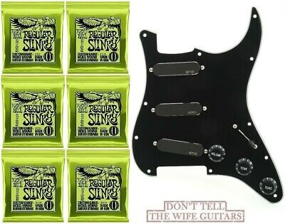 EMG DG20 David Gilmour SA Set Black On Pickgurad SPC & EXG ( 6 EB STRING SETS )  • 232.80£