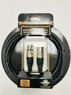 Monster Cable Classic XLR Microphone Cable - 10 Feet