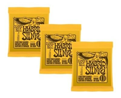 Ernie Ball Hybrid Slinky Nickel Wound Sets.009 - .046, Bundle Of 3 Sets • 26.73£