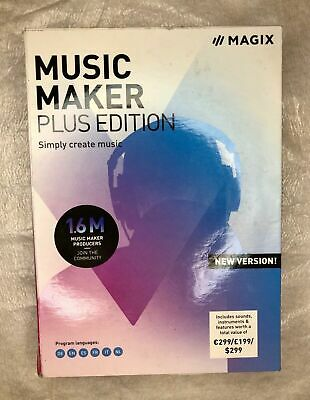 MAGIX Music Maker Plus Edition Create Produce Record Mix Music PRODUCT KEY ONLY • 19.28£