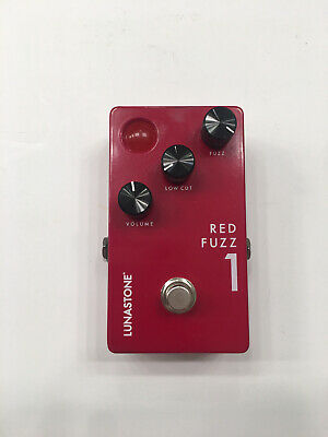 LunaStone Pedals Red Fuzz 1 Distortion Rare Guitar Effect Pedal • 95.84£