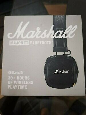 Marshall Major III 🎧 Foldable Bluetooth Headphones - Black • 49.99£