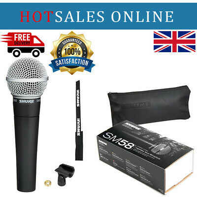 Shure SM58 LC Cardioid Dynamic Vocal Microphone - Fast Dispatch - U.K • 64.99£