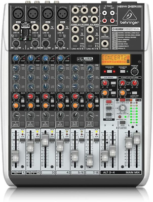 Behringer QX1204USB Premium 12 Input 2/2 Bus Mixer With XENYX Mic, Preamps And • 235.61£