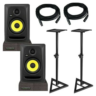 KRK CL5G3 RP5G3 Classic Rokit 5 Powered Monitor Pair + Pads + Cables + Stands • 233.20£