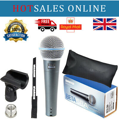 Shure Beta 58A High Output Supercardioid Dynamic Vocal Microphone-Fast Dispatch- • 94.99£