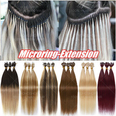 1G/S Micro Loop Nano Ring Beads Remy Human Hair Extensions Pre Bonded Link THICK • 118.04£
