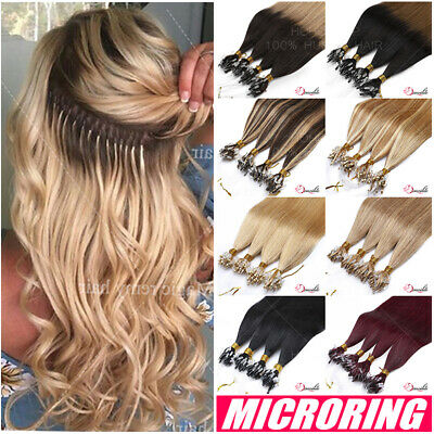 200S REAL THICK 100% Remy Human Hair Extensions Micro Loop Nano Ring Bead I Tip • 118.04£