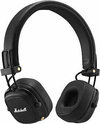 Marshall Major 3 Bluetooth Foldable Headphones Black Major III UK! NEW! ORIGINAL • 69.99£