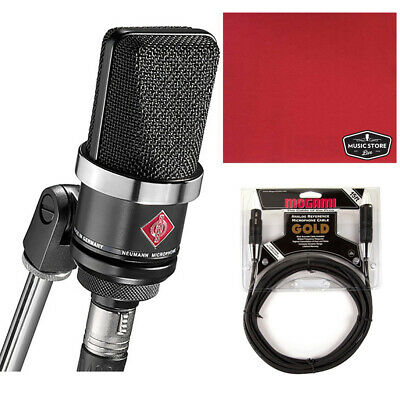 Neumann TLM-102 Large Diaphragm Studio Condenser Microphone Black, Cable, Cloth • 511.30£