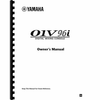 Yamaha 01V96i Digital Mixing Console Owner's/ User Manual (Pages:71) • 10.88£