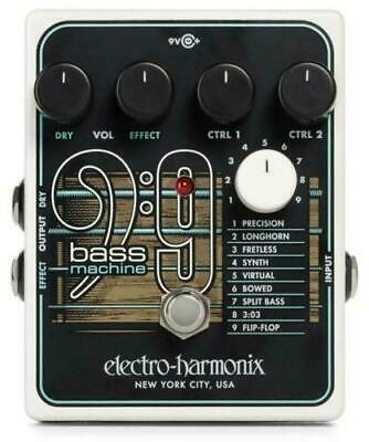 EHX Electro Harmonix BASS9 Bass 9 Machine Guitar FX Pedal +2 Free Patch Cables! • 160.21£