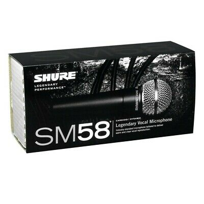Shure SM58S Vocal Microphone With Switch - Legendary Dynamic Unidirectional • 94.99£