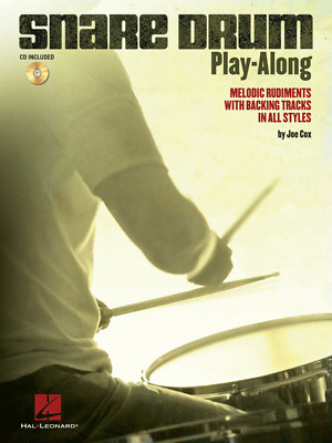 Snare Drum Play-Along Melodic Rudiments With Backing Tracks In All Styles • 10.77£