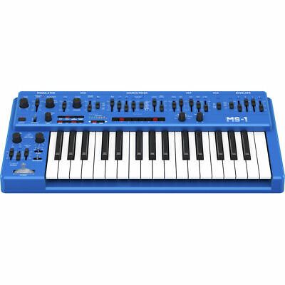 New Behringer MS-1 Analog Synthesizer With Live Performance Handgrip Blue • 281.76£