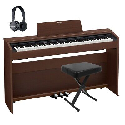 Casio Privia PX-870 Digital Piano - Brown COMPLETE HOME BUNDLE PLUS • 833£