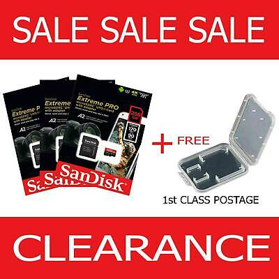 SanDisk Micro SD Extreme Pro 64GB 128GB 256GB Class 10 Memory Card +Adapter+Case • 47.99£