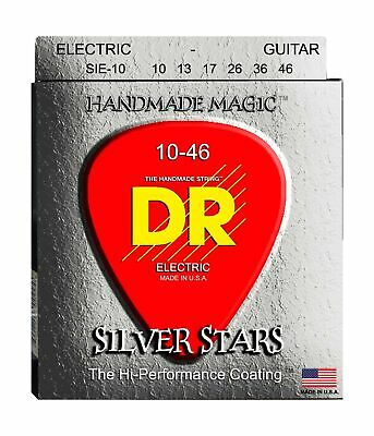 DR Strings Silver Stars - Extra-Life Silver Coated Electric 10-46 • 12.87£
