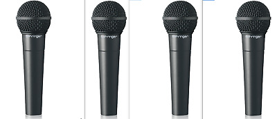 (4) Behringer - XM8500 - Ultravoice Dynamic Vocal Cardioid Mics • 49.70£