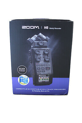 ZOOM H6 Handy Recorder - Black Finish   BRAND NEW BOXED • 320£