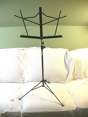 On Stage Stands Portable Black Foldable Compact Sheet Music Stand SM7122 Ex Cond • 7.26£