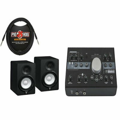 Mackie Big Knob Studio Monitor Controller Recording Package W/ Yamaha HS8s&Cable • 712.55£