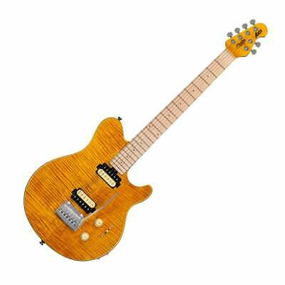 Sterling by Music Man AX3FM-TGD Axis Flame Maple, Electric Guitar, Trans Gold