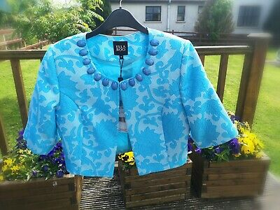 Brand New With Tags Ella Boo Bolero Turquoise Blue Jacket Size 10 RRP£116 • 9.99£