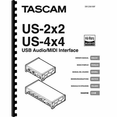 Tascam US-2x2 & US-4x4 USB/ MIDI Audio Interface Owner/ User Manual (Pages: 96)